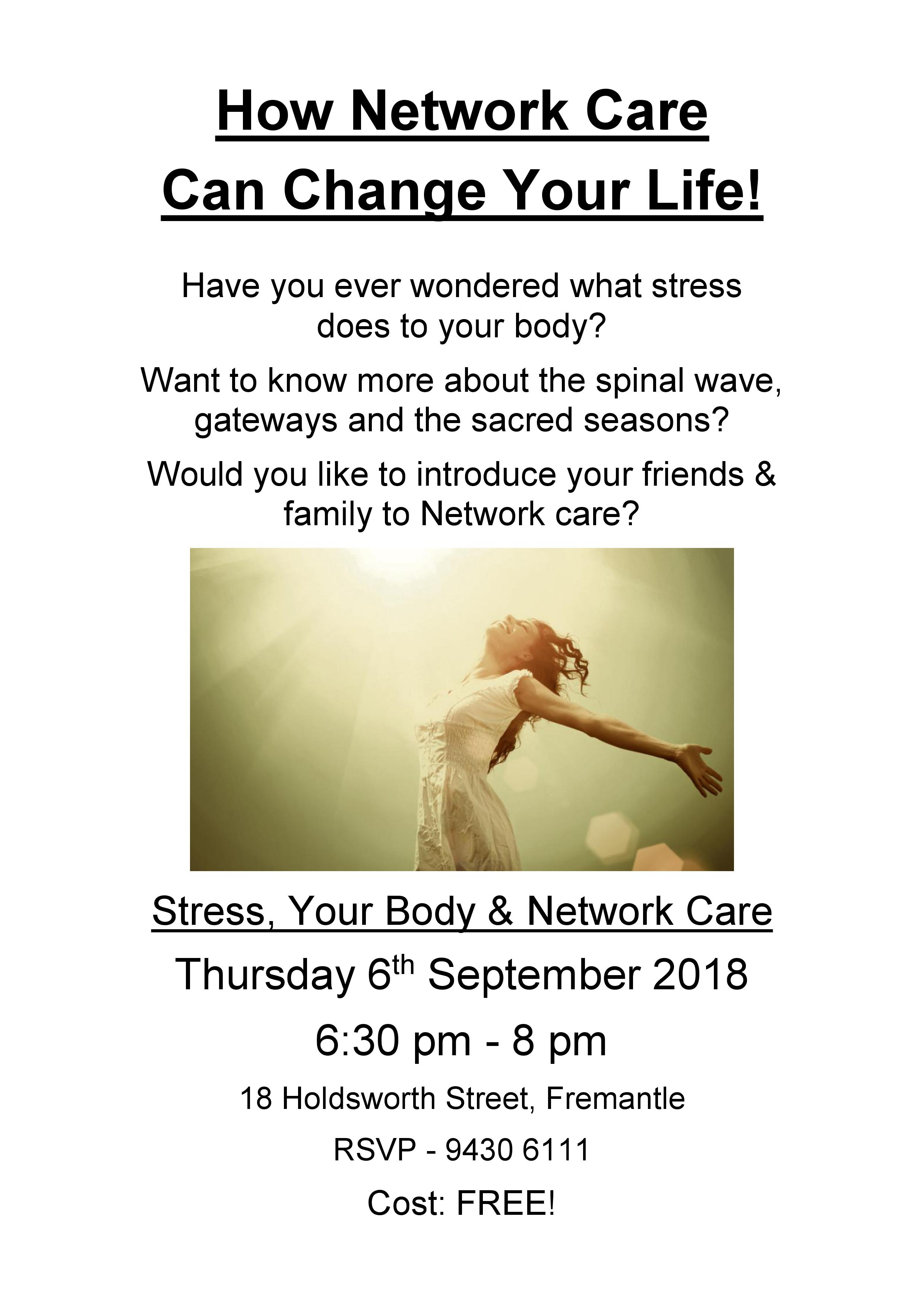 Stree, Your Body & Network Care Information Session sign final Sept 18